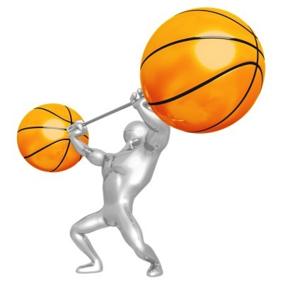 fitness und basketball